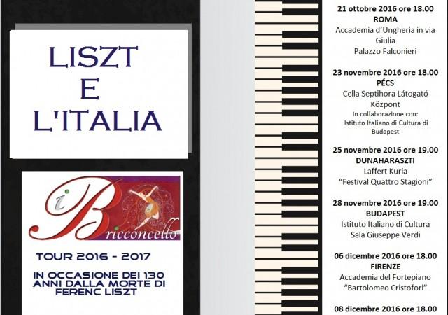 Liszt and Italy 2016-2017